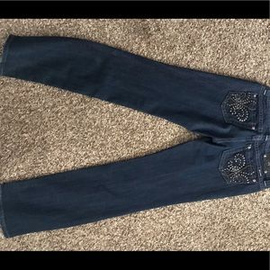 Size 31 straight leg Miss Me Jeans. Brand new.